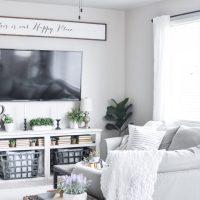 Modern Farmhouse Summer Living Room Tour