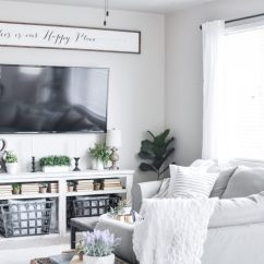 Images Of Modern Farmhouse Living Rooms Leather Room Furniture Raymour And Flanigan Summer Tour Cherished Bliss Our Home Consists Neutral Simple Easy To Manage Decor This I That S It For