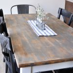 Distressed Farmhouse Dining Room Table Makeover Cherished Bliss