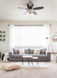 Minimalist Living Room Decor Makeover - Cherished Bliss