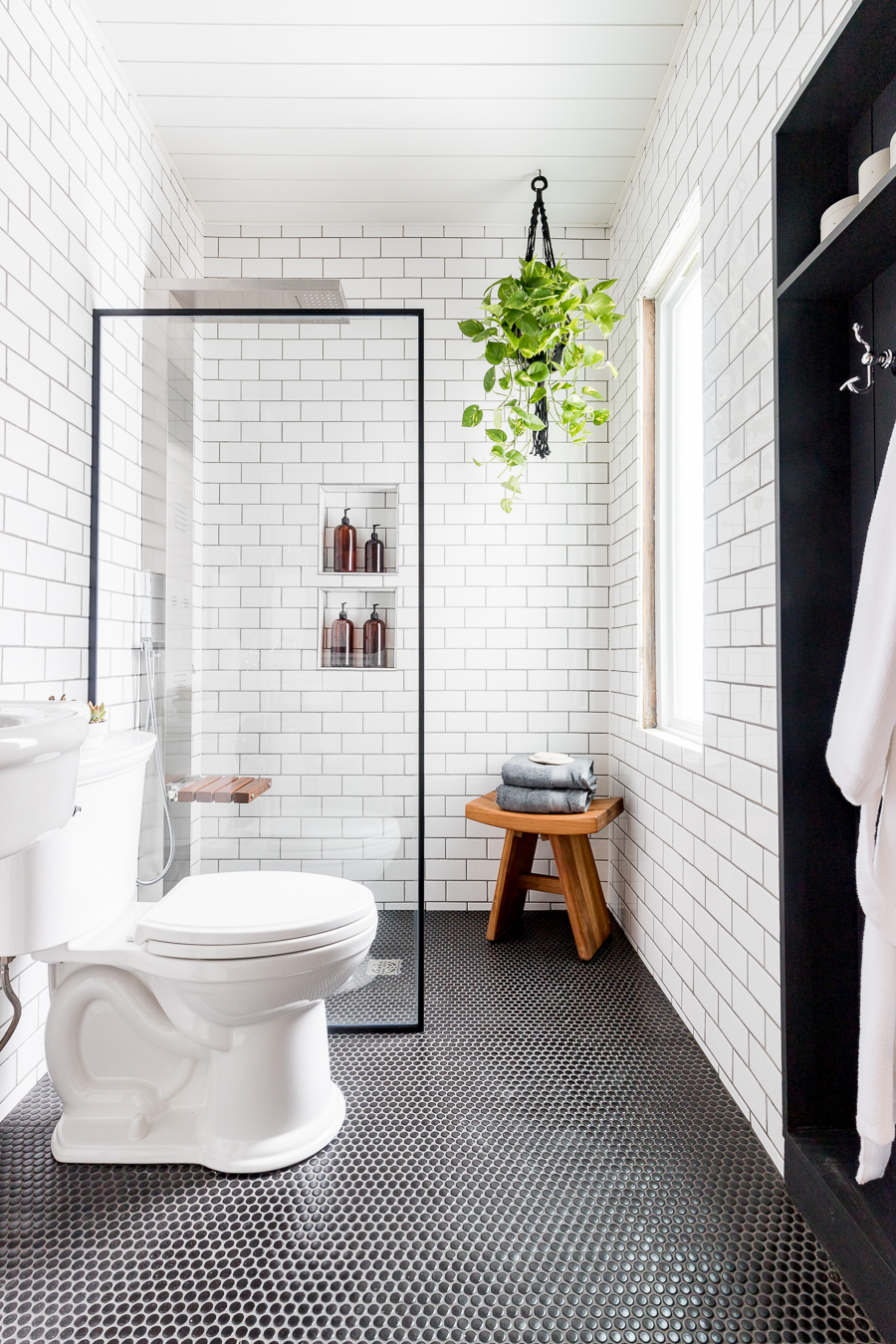 Black And White Industrial Bathroom Cherished Bliss