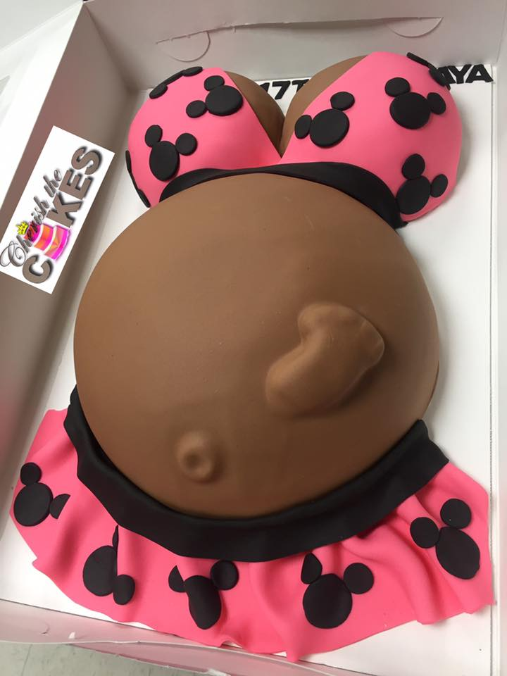 Minnie Mouse Baby Shower Cake : minnie, mouse, shower, Minnie, Mouse, Belly, Cherish, Cakes