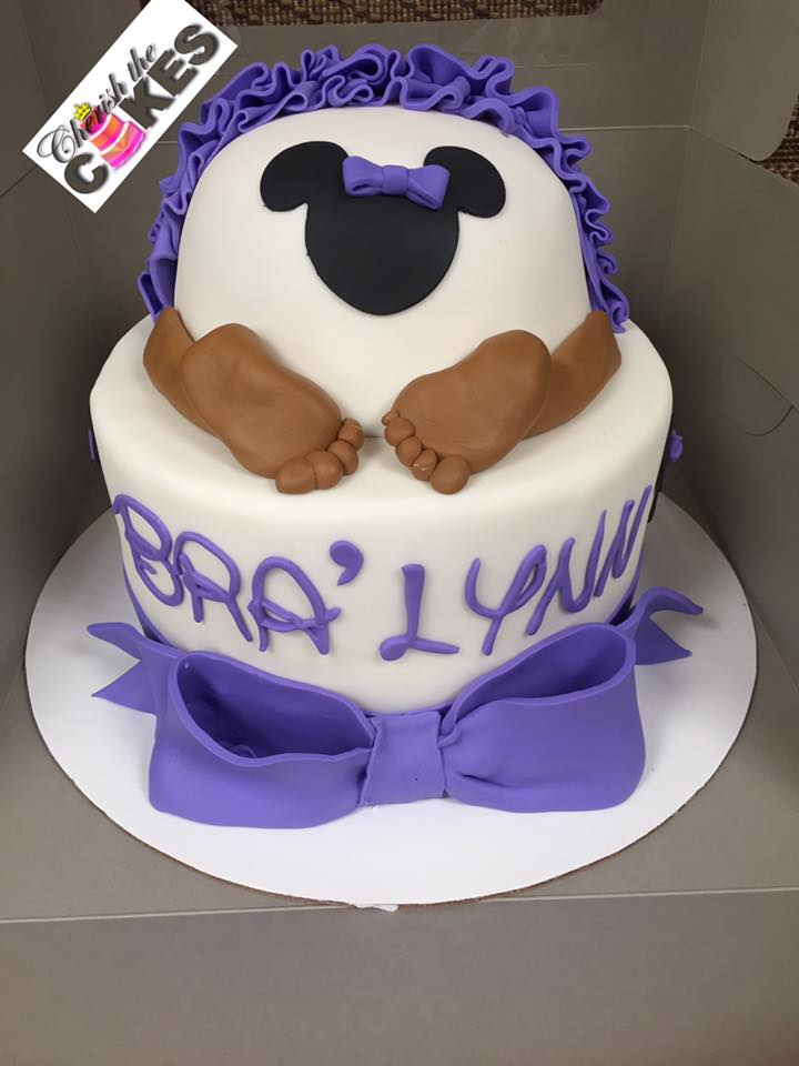 Minnie Mouse Baby Shower Cake : minnie, mouse, shower, Minnie, Mouse, Bottom, Cherish, Cakes