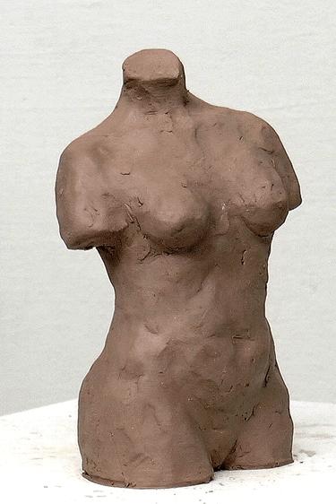 Female torso sculpture exercise