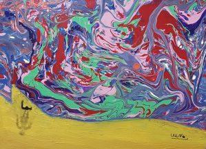 "Nickol, ""Fantasy Sea"", Poring Acrylic"
