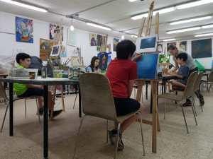 Painting and enjoying