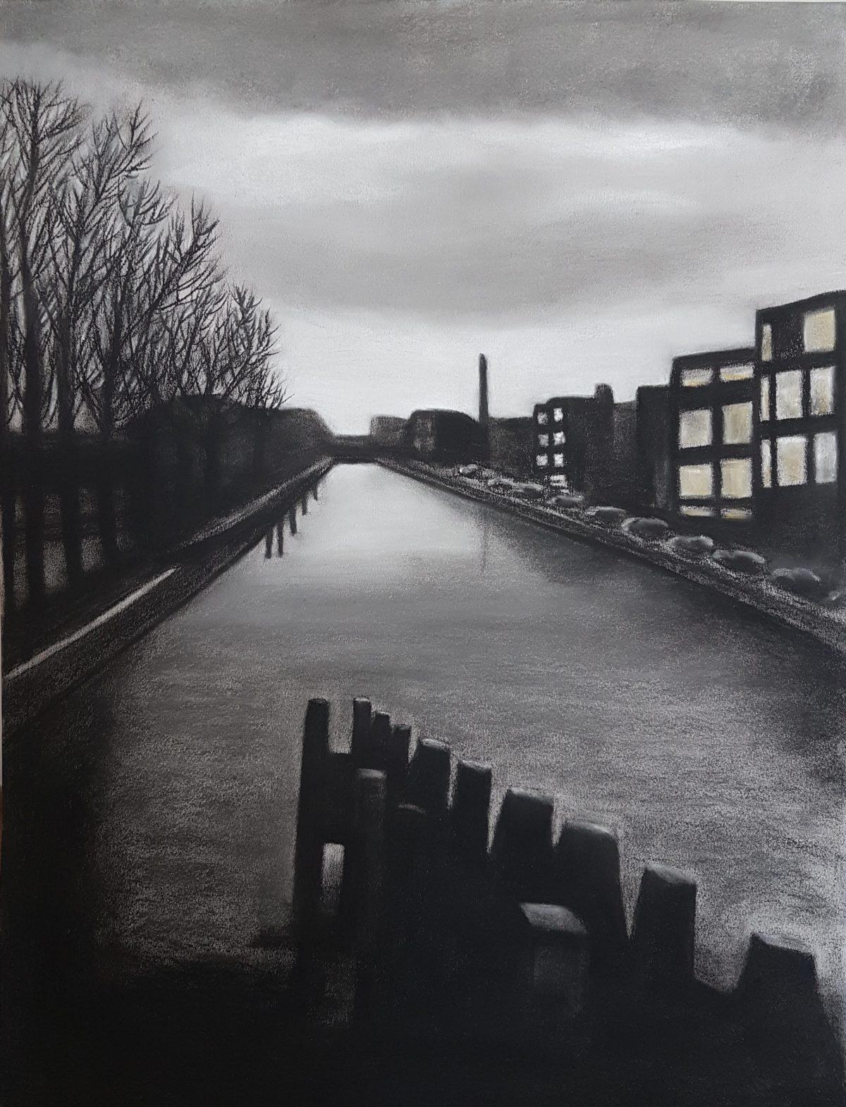"Sophy Cherkov, ""Amsterdam"", Charcoal"