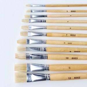 Flat wood brush