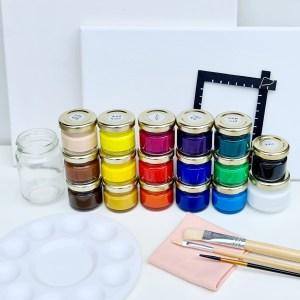 קיט ציור בסיסי בצבעי אקריליק