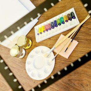 קיט ציור בסיסי בצבעי שמן