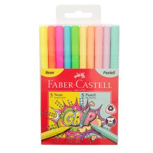 סט טושים פסטל ניאון איכותיים לציור Faber Castell