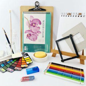 Comprehensive watercolor painting kit