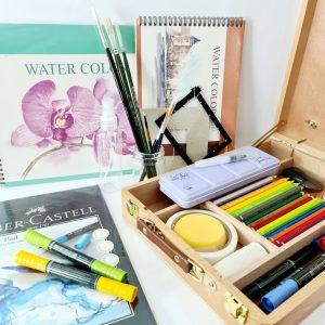 קיט ציור פרימיום בצבעי מים
