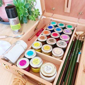 Premium painting kit in acrylic paints
