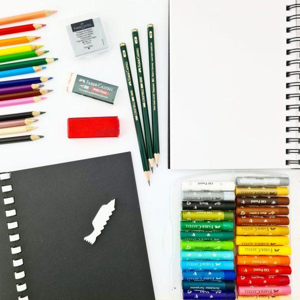 קיט רישום בעפרונות ופסטל