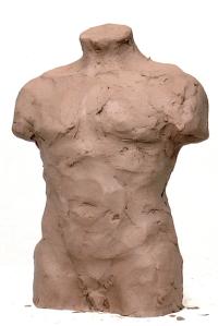 Male torso sculpture exercise