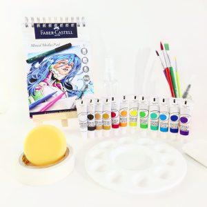 Basic watercolor painting kit