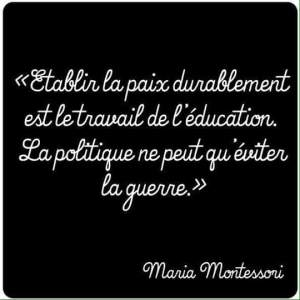 montessori education guerre