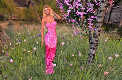 """Kebaya Merah Jambu Dress"" Diana Beauty & Fashion@(TAP)SunSetMistMall-"