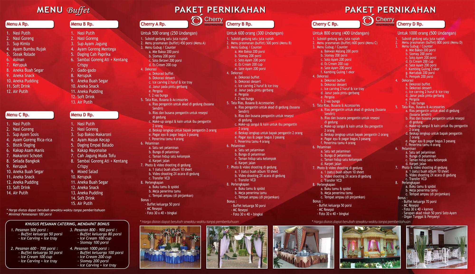 Download Brosur  Cherry Catering  Paket Catering Murah