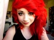 girl with wavy voluminous bright