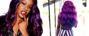 azealia banks with purple