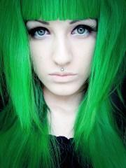 green hair dye color wigs
