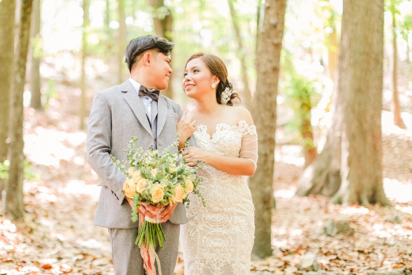 Annabelle & George's Boho Woodland Wedding by Paopao Sanchez