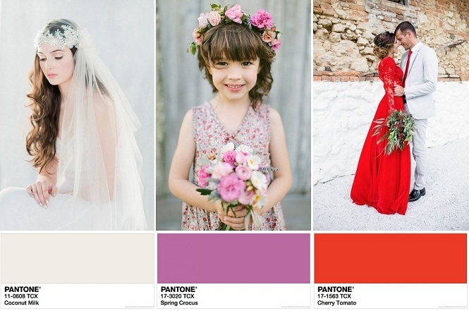 Fab Ways to Use Pantone's Spring 2018 Color Report in Your Wedding