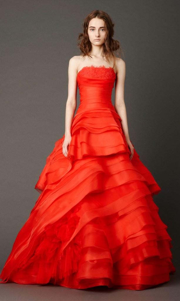 Poppy Red Bride Vera Wang