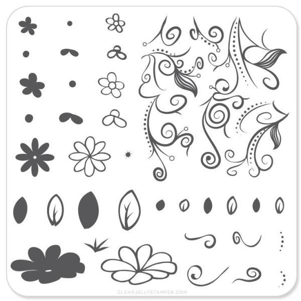 Floral Swirl 2 (CjS-14) - Steel Stamping Plate
