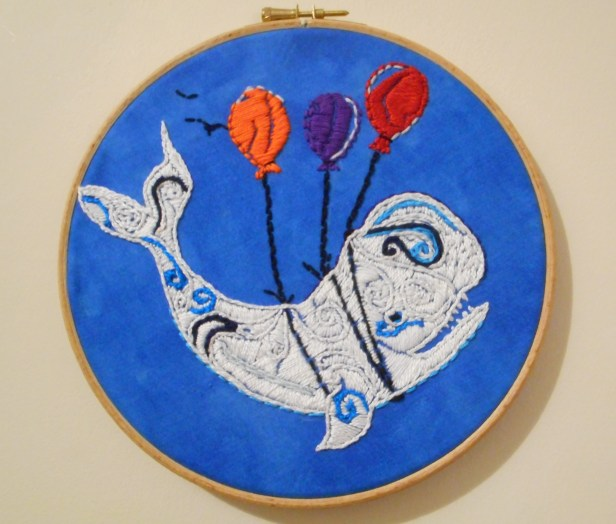 Whale Embroidery