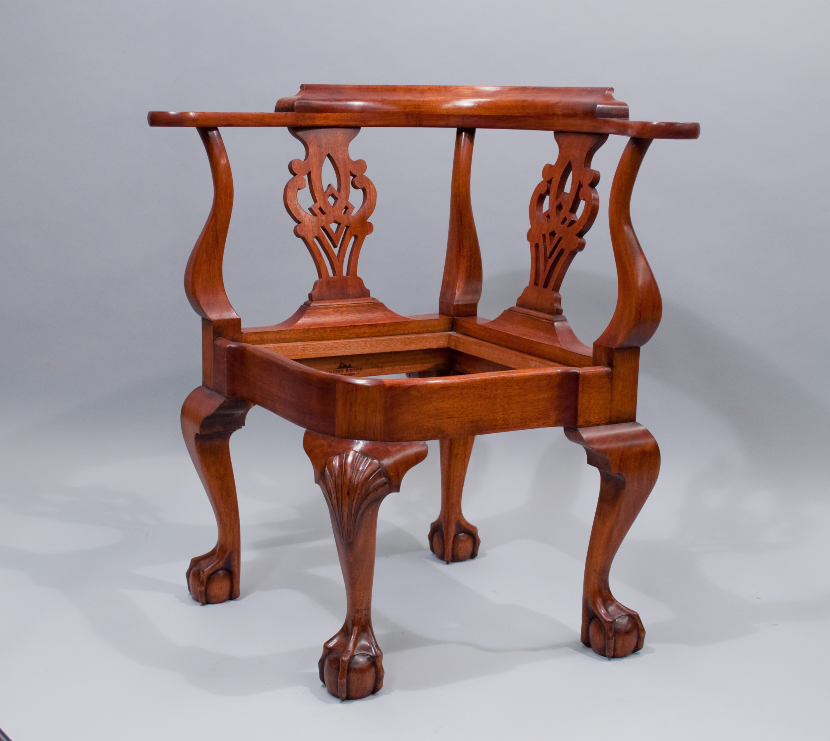 wooden corner chair trailer hitch chairs new york cherry brook woodworks chippendale newport
