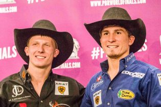 From left to right: Cooper Davis (16th World Champion) and Ryan Dirteater (World Finals title)