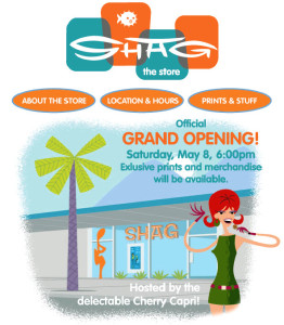 SHAG Store Grand Opening Hostess