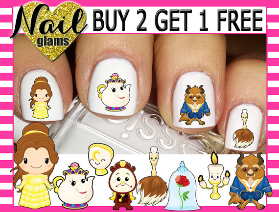 Beauty and the Beast Nails 9