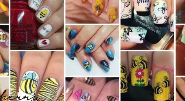 21 Bee Nail Art Designs
