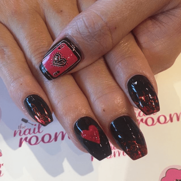 Nails for Valentines Day 4