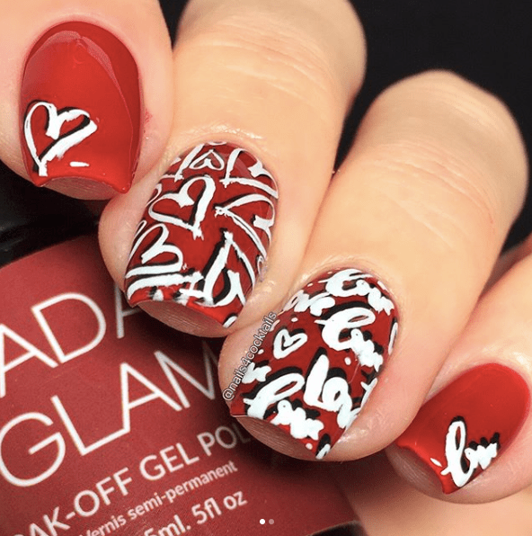 Nails for Valentines Day 9
