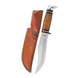 381-6 SS Leather Hunter w/Sheath