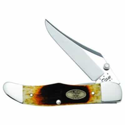 Sawcut Antique Bone Mid Folding Hunter w/Clip