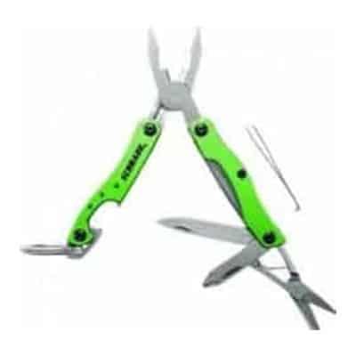 Keychain Tool w/Lanyard, Pliers, Wire Stripper, Bottle Opener, Scissors, Screwdriver Tweezers, Knife Blade