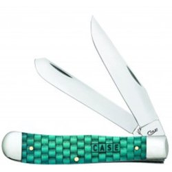Basket Weave Natural Bone Smooth Turquoise Color Wash Trapper 6254 SS