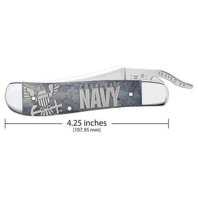 U.S. Navy® Embellished Smooth Gray Bone RussLock®