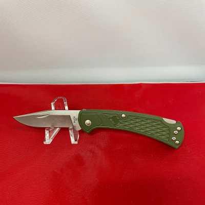 Slim Select Ranger OD Green Handle Nail Notch