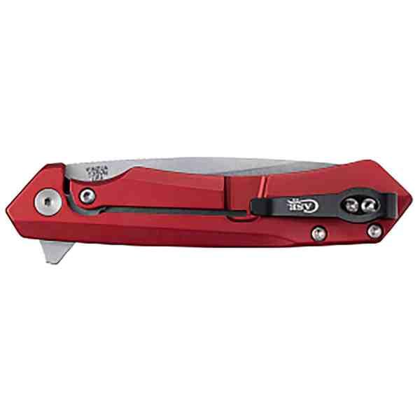 Kinzua EDC- Red Anodized Aluminum - Tanto Blade