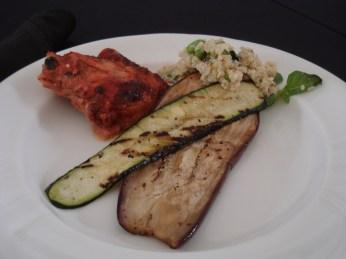 Lunch (chicken, grilled veg, quinoa salad)