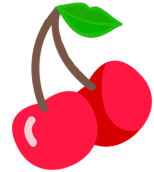 Logo cherry lips
