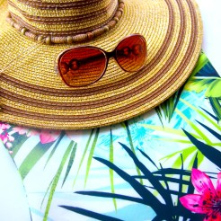 Tropical bandeau dresses are a holiday must