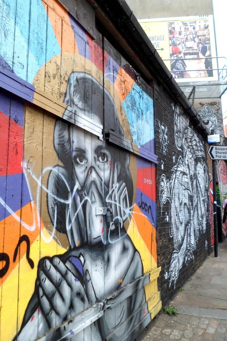 Brick Lane Graffiti Wall